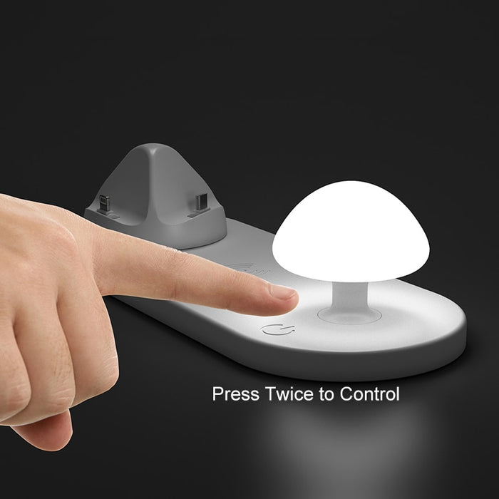 New Multi USB Qi Wireless Charging Dock Station with Mushroom Light