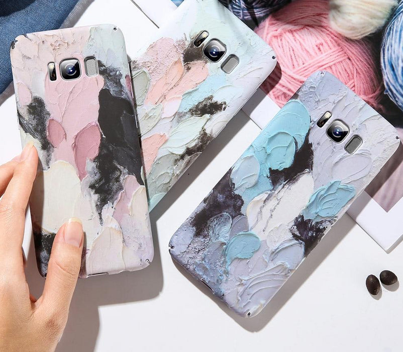 3D Embossed Glow in the Dark Pastel Painted Cases For Samsung