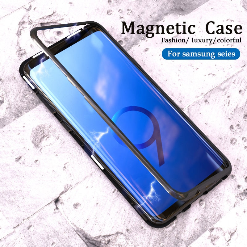 Magnetic Adsorption Flip Phone Case for Samsung Galaxy