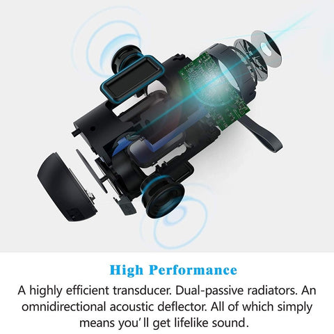 Image of Waterproof Wireless Portable Outdoor Superior Sound Dual Drivers Bluetooth Speaker