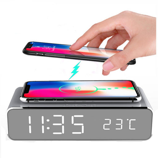 Qi Wireless Fast Charging Alarm Clock