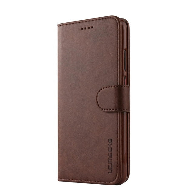 Retro PU Leather Flip Phone Case For Huawei