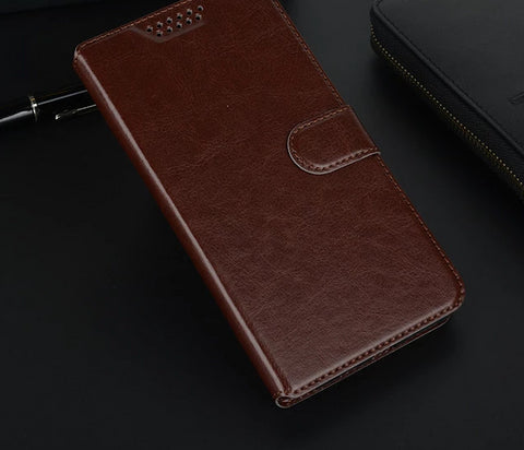 Image of Leather Style Wallet Phone Case For HTC