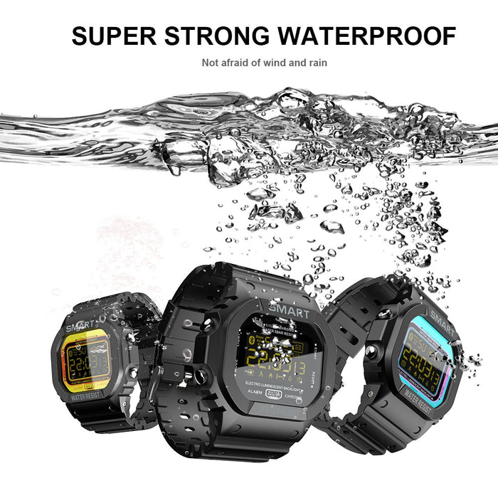 Waterproof Rugged Sport Pedometer Digital Fitness Tracker Smartwatch For iPhone Android