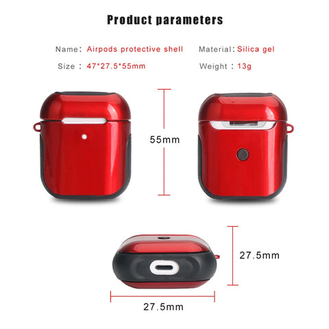 Image of Airpods 2nd Generation Glossy Case For Bluetooth Wireless Earphones