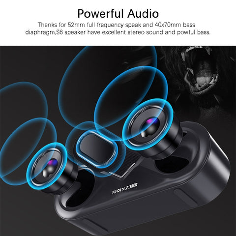 Image of 6D Stereo Sound Portable Bluetooth Deep Bass Wireless Loud Outdoor Speaker For iPhone Android