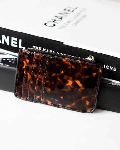 AIMEE CARD HOLDER - TORTOISESHELL-Handbags-Billini--Billini