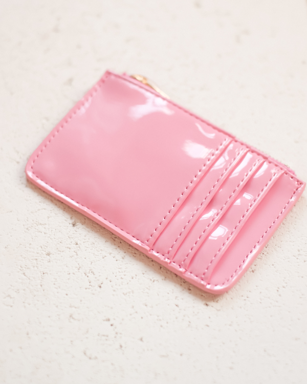 AIMEE CARD HOLDER - WATERMELON PATENT