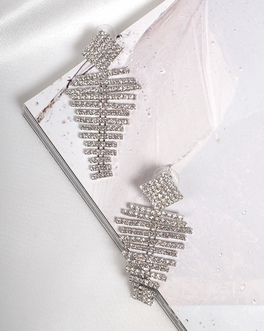 BILLINI | ALESSIA DIAMANTE DROP EARRING - SILVER |  |EARRINGS