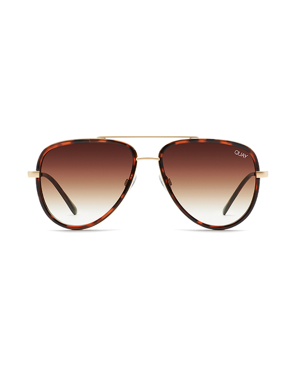 ALL IN MINI SUNGLASSES - TORT/BROWN FADE LENS