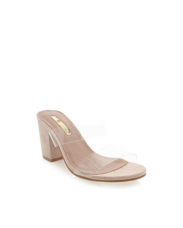 CABO - BLUSH SUEDE/CLEAR
