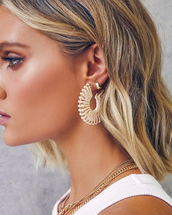 CASIDY HOOP EARRING - NATURAL
