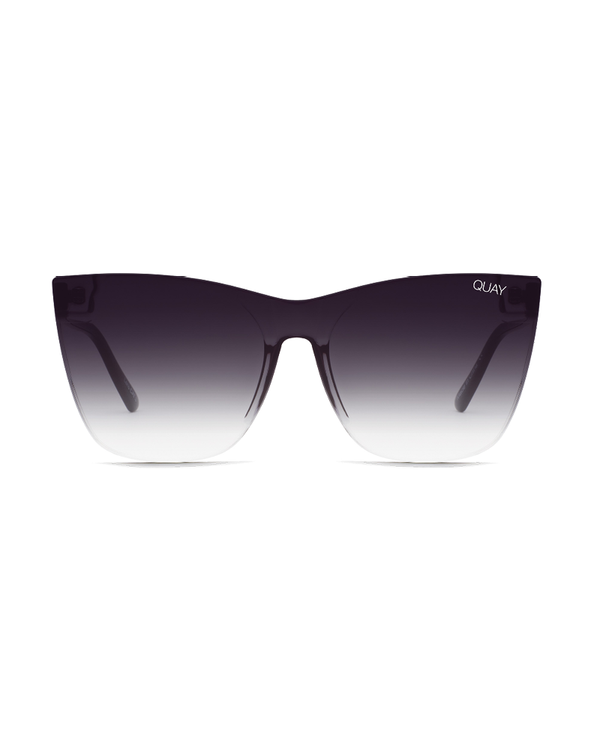 COME THRU SUNGLASSES - BLACK/BLACK FADE LENS