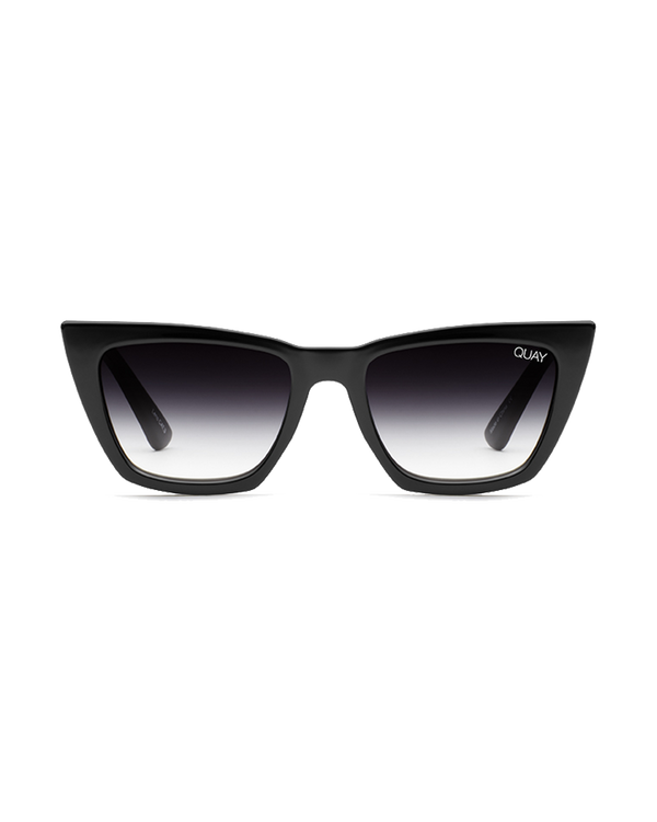 DONT AT ME SUNGLASSES - BLACK/BLACK FADE LENS