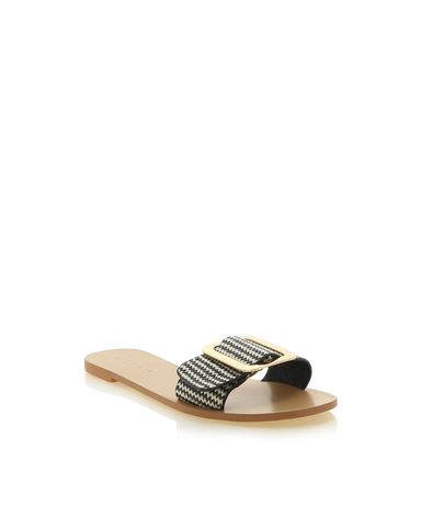BILLINI | ELIAS - BLACK/WHITE ZIGZAG | 59.95 |Sandals