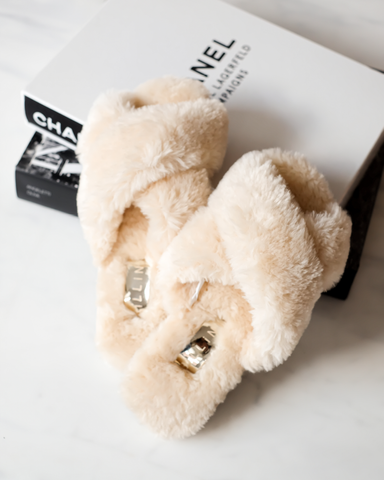 EMERY - CREAM FUR-SLIPPERS-Billini-Billini