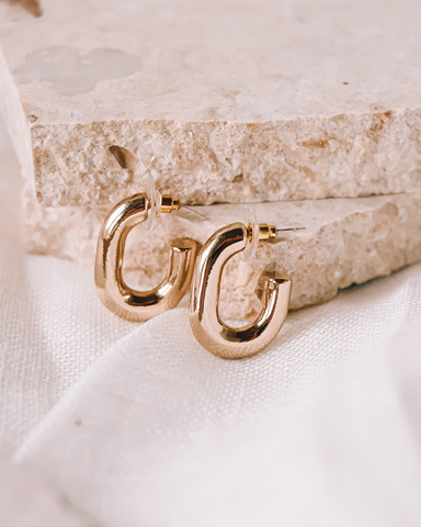 EMILIO HOOP EARRING - GOLD-EARRINGS-Billini-O/S-Billini