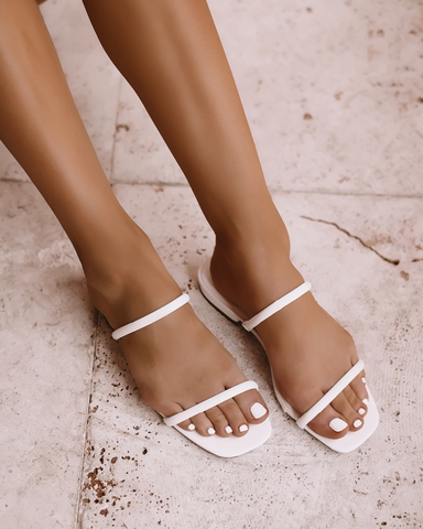 GREECE - WHITE-Sandals-Billini-Billini