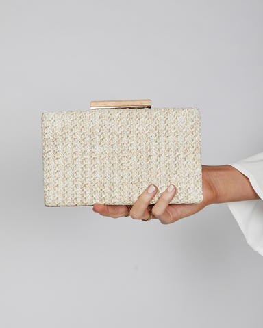 BILLINI | INDIANA CLUTCH - NATURAL RAFFIA |  |Handbags
