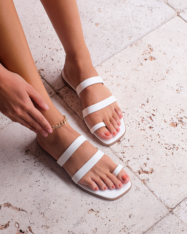 LEAH - WHITE-Sandals-Billini-Billini