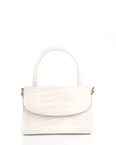 LIV SHOULDER BAG - OFF WHITE CROC