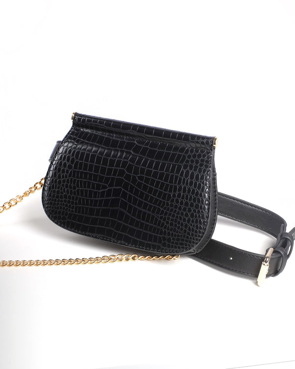 MARLOW BELT BAG - BLACK CROC