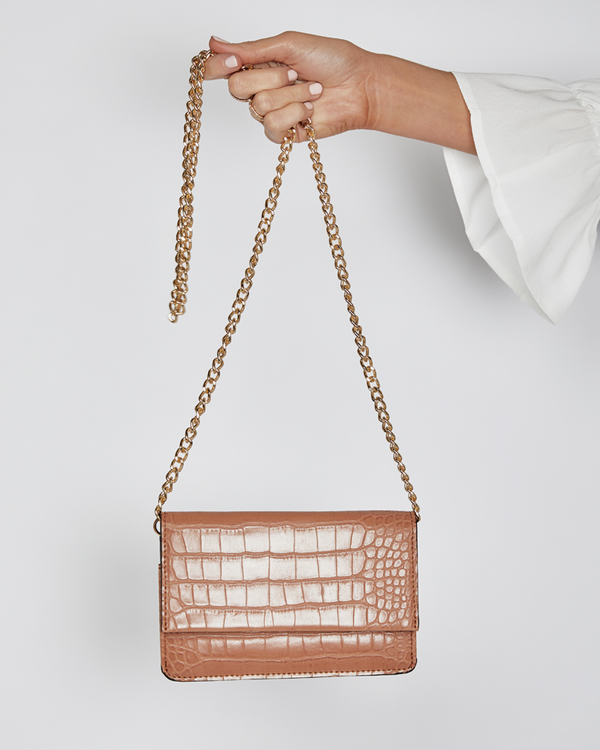 MINKA BELT BAG - TAN CROC