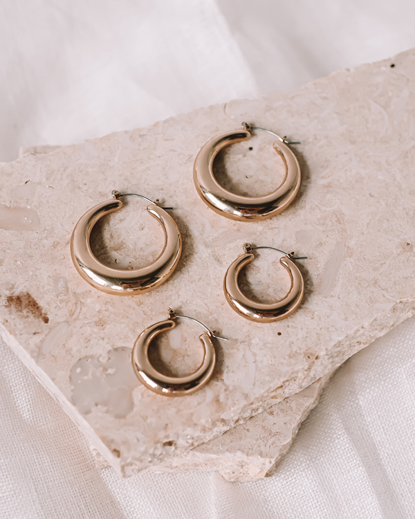 MYLLENA HOOP EARRING PACK - GOLD