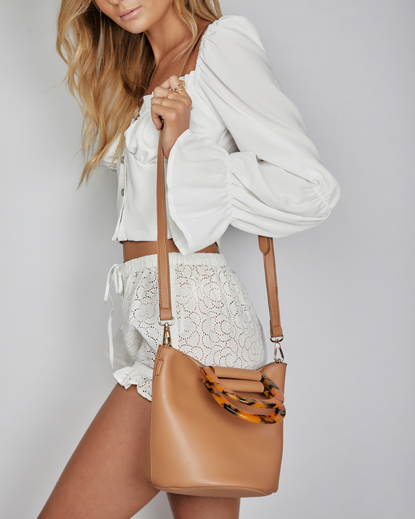 NICOLA SHOULDER BAG - TAN