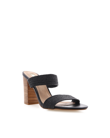 BILLINI | NORA - BLACK STRETCH WOVEN | 99.95 |Heels