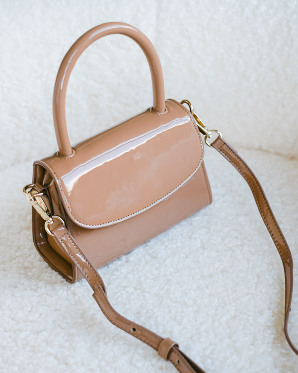 LIV SHOULDER BAG - TOFFEE PATENT