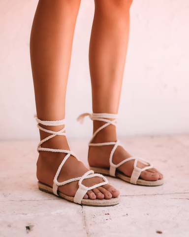 KAILEY - NATURAL LINEN-Sandals-Billini-Billini