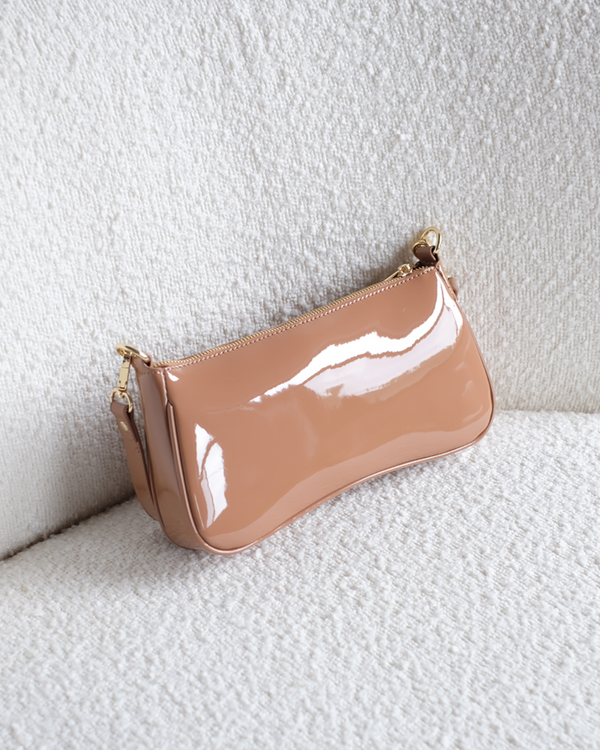 RIANA SHOULDER BAG - TOFFEE PATENT