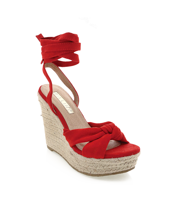 SALOME - RED SUEDE