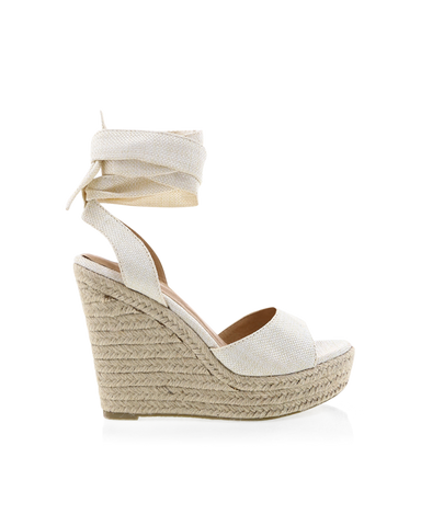BILLINI | SKYROS - OFF WHITE LINEN | 99.95 |Wedges