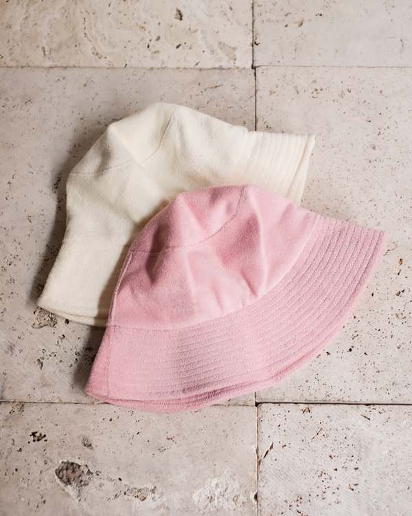 SUNNY DAYS BUCKET HAT - CREAM TERRY