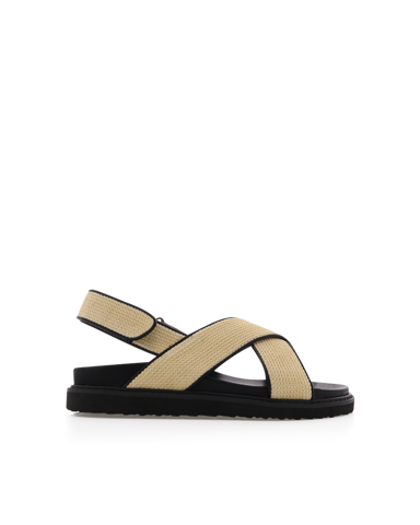 ZAMBA - CREAM RAFFIA-Sandals-Billini-Billini