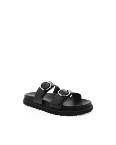 ZIBA - BLACK CROC-Sandals-Billini-Billini