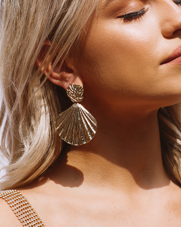 ANDRINA DROP EARRING - GOLD