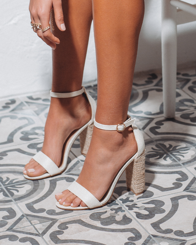 BILLINI | JESSA - OFF WHITE LINEN/ROPE | 89.95 |Heels