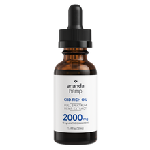 Load image into Gallery viewer, Ananda Hemp Full Spectrum 2000mg CBD Oil Tincture