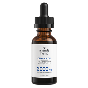 Ananda Hemp Full Spectrum 2000mg CBD Oil Tincture