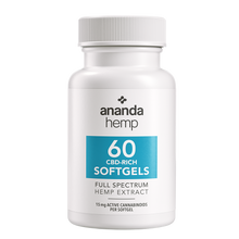 Load image into Gallery viewer, Ananda Hemp Full Spectrum CBD Oil Softgel Capsules 15mg 60 Count