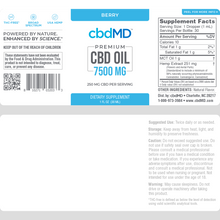 Load image into Gallery viewer, cbdMD CBD Oil Tincture Drops 7500mg
