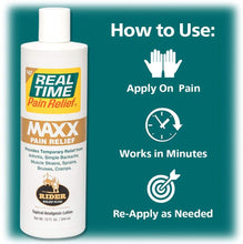 Load image into Gallery viewer, Real Time Pain Relief Maxx 12 Ounce
