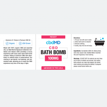 Load image into Gallery viewer, cbdMD CBD Bath Bomb Resist - Lavender - 100 mg