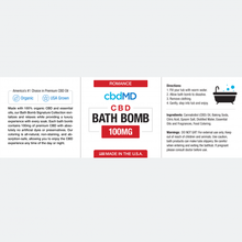 Load image into Gallery viewer, cbdMD CBD Bath Bomb Romance - Frankincense - 100 mg