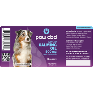 cbdMD Pet CBD Oil Calming Tinctures for Dogs - Blueberry