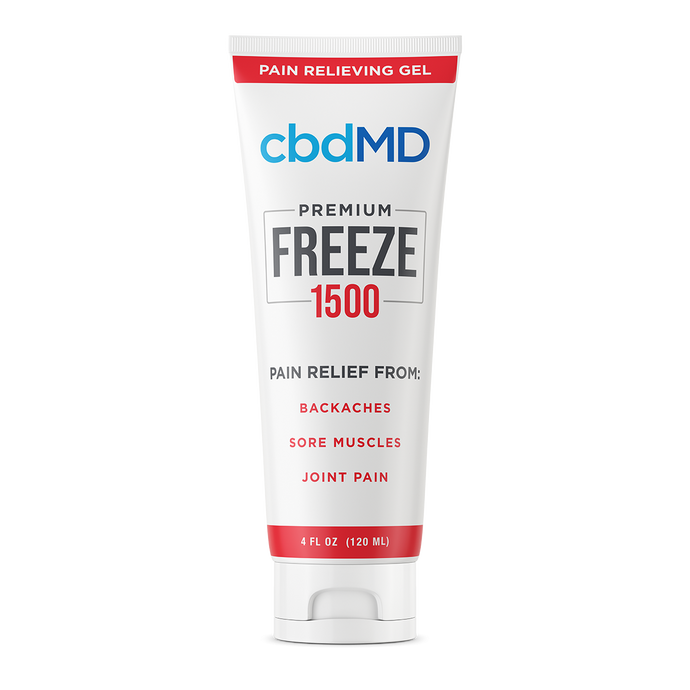 cbdMD CBD Freeze Pain Relief Gel Squeeze 1500mg