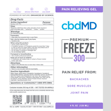 Load image into Gallery viewer, cbdMD CBD Freeze Pain Relief Gel Squeeze 300mg